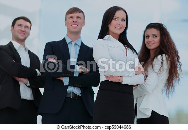 A group of successful business people - csp53044686