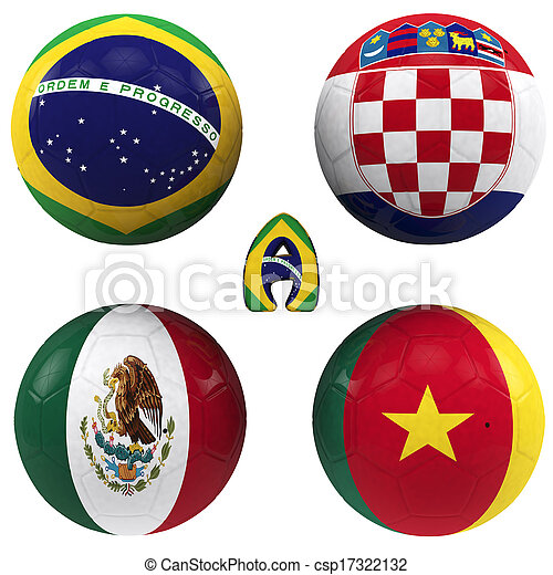 a group of the World Cup - csp17322132