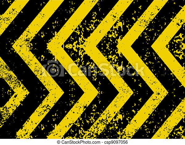 A grungy and worn hazard stripes texture. EPS 8 - csp9097056