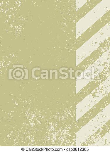 A grungy and worn hazard stripes texture. EPS 8 - csp8612385