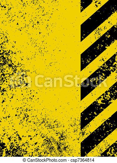 A grungy and worn hazard stripes texture. EPS 8 - csp7364814
