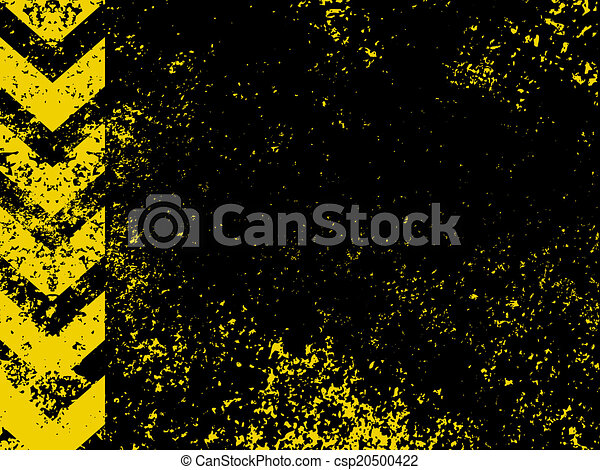 A grungy and worn hazard stripes texture. EPS 8 - csp20500422