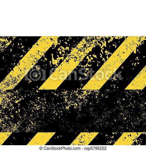 A grungy and worn hazard stripes texture. EPS 8 - csp5795222