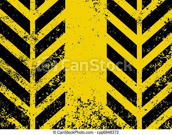 A grungy and worn hazard stripes texture. EPS 8 - csp6848372