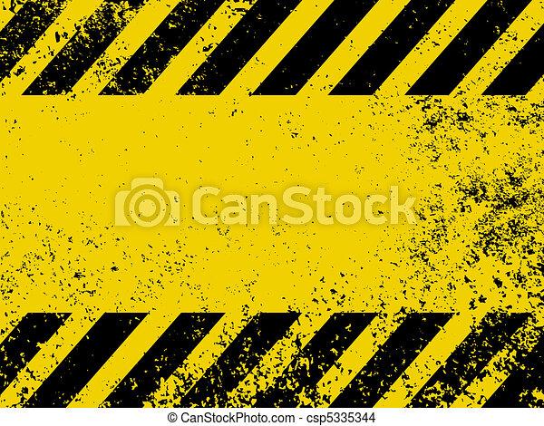 A grungy and worn hazard stripes texture. EPS 8 - csp5335344