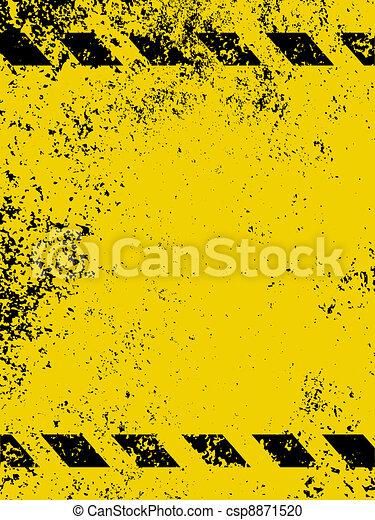 A grungy and worn hazard stripes texture. EPS 8 - csp8871520