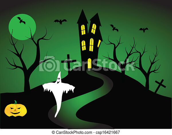 A halloween vector illustration  - csp16421667