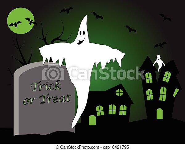 A halloween vector illustration  - csp16421795