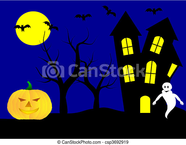 A halloween vector illustration  - csp3692919