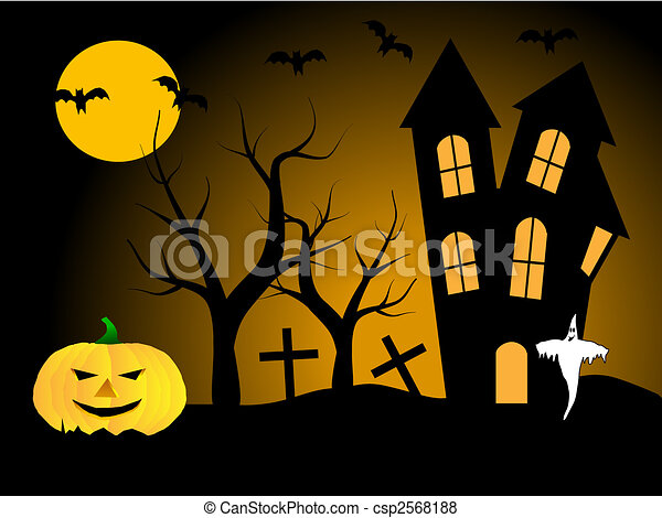 A halloween vector illustration - csp2568188