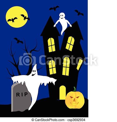 A halloween vector illustration - csp3692934