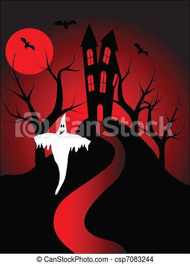 A halloween vector illustration - csp7083244