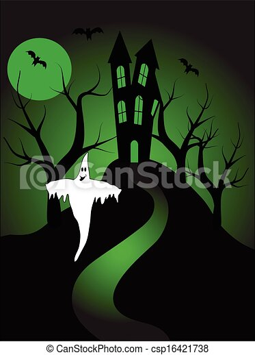 A halloween vector illustration  - csp16421738