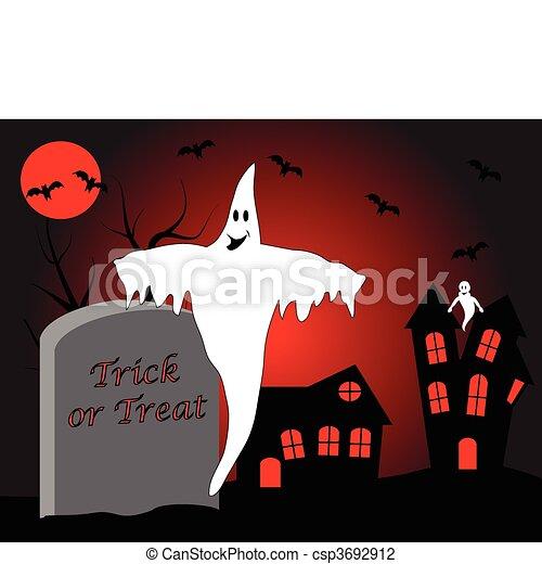 A halloween vector illustration - csp3692912