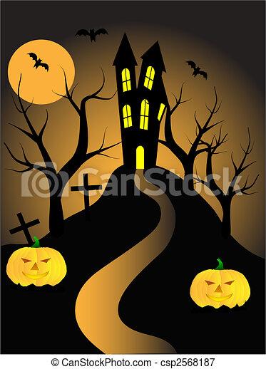 A halloween vector illustration - csp2568187