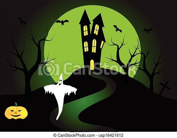 A halloween vector illustration  - csp16421612