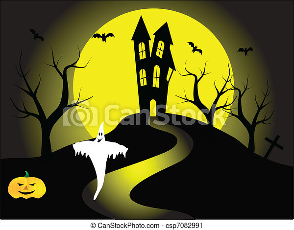 A halloween vector illustration - csp7082991