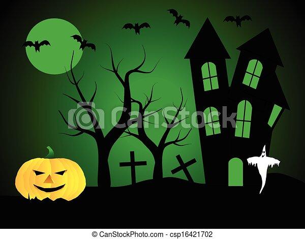 A halloween vector illustration  - csp16421702