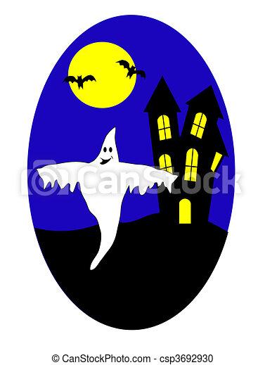 A halloween vector illustration  - csp3692930