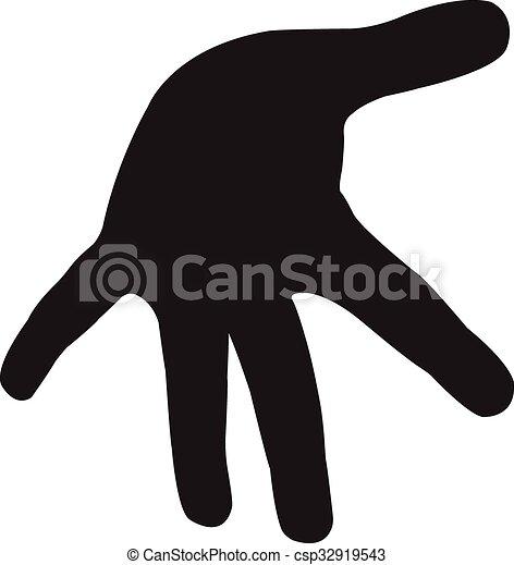 a hand silhouette vector - csp32919543