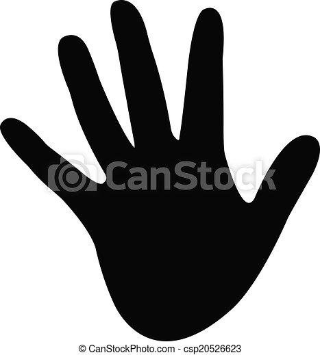 a hand silhouette vector  - csp20526623