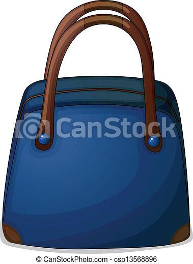 A handy blue bag - csp13568896