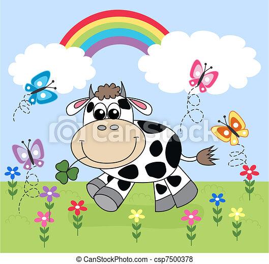 a happy cow - csp7500378
