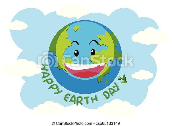 A happy earth logo - csp65133149