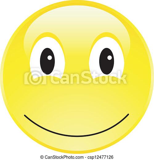 A Happy Smiley Face Button - csp12477126