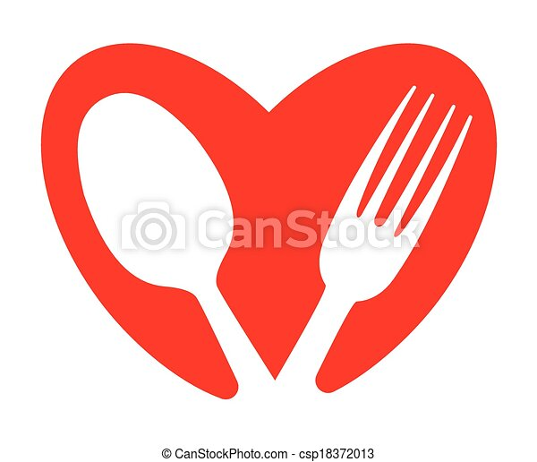A heart and food concept - csp18372013