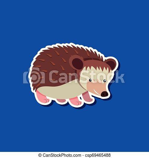 A hedgehog sticker character - csp69465488