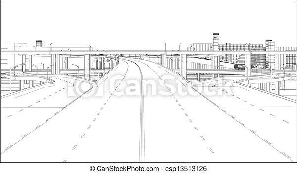 A Highway Interchange - csp13513126