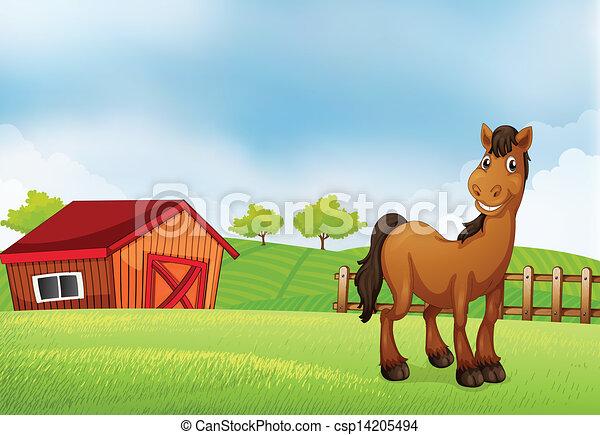 A horse at the farm - csp14205494