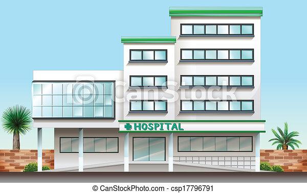 A hospital building - csp17796791
