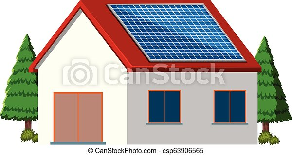 A house with green engery - csp63906565