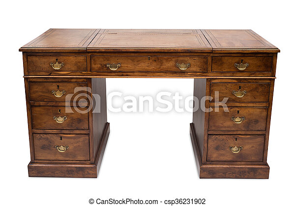 A Huge Antique Office Desk - csp36231902 - A Huge Antique Office Desk. A Huge Antique Wooden Office Desk.