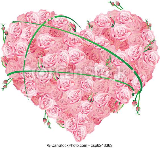 a huge heart  - csp6248363