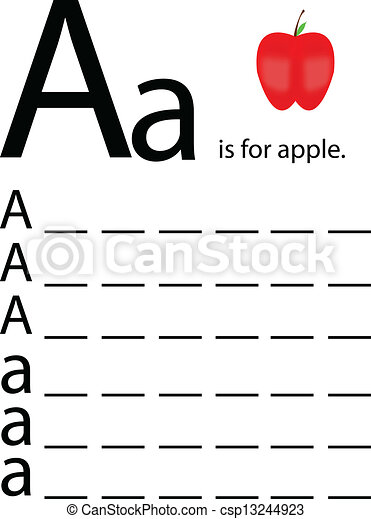 A Is For Apple This Is A Worksheet For Students To Practice Writing