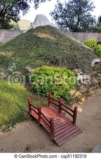 Genial A Japanese Garden On The Theme Of Mount Fuji   Csp51192319