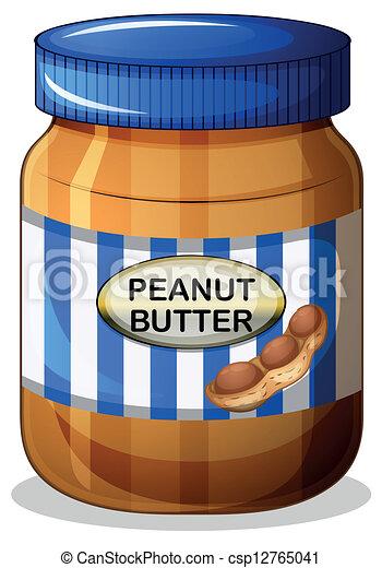 A jar of peanut butter - csp12765041