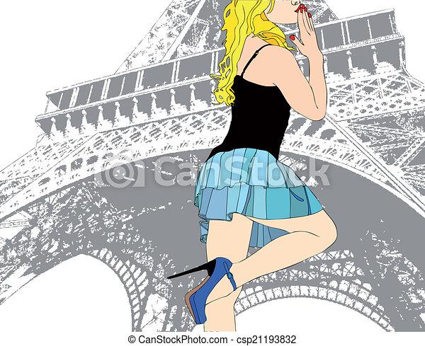 A Kiss from Paris - csp21193832