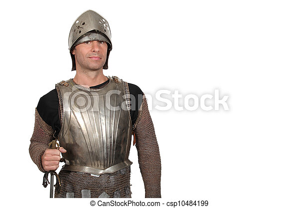 A knight in armor - csp10484199