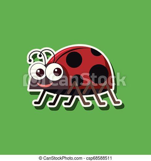 A ladybug sticker character - csp68588511