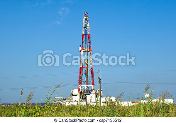 A land drilling rig. - csp7136512