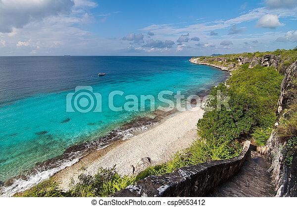A landmark location on Bonaire, Caribbean. - csp9653412