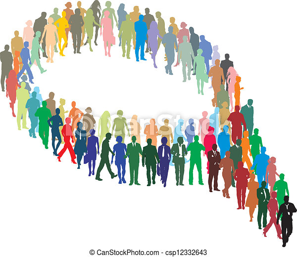 A large group of people in the form - csp12332643