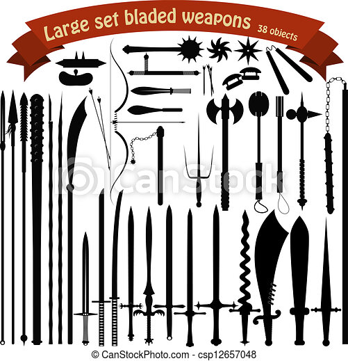 A large set bladed weapons - csp12657048