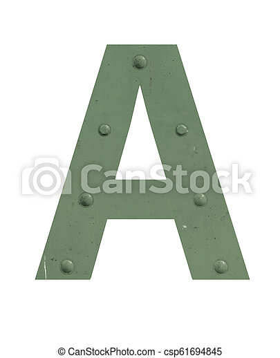 A letter in green metal - csp61694845