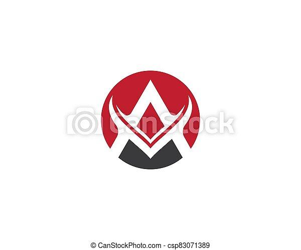 A letter logo vector icon - csp83071389