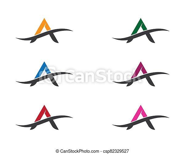 A letter logo vector icon - csp82329527